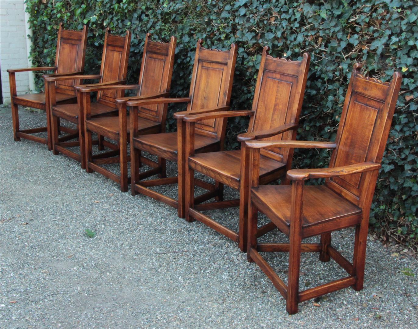 set von 6 antiken sessel eiche england 1920 20 jahrhundert. Black Bedroom Furniture Sets. Home Design Ideas