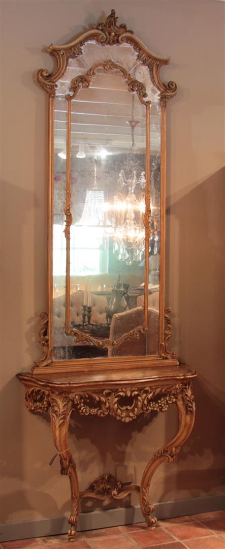 antike spiegel mit konsole frankreich 1860 19 jahrhundert. Black Bedroom Furniture Sets. Home Design Ideas